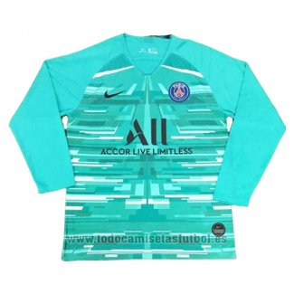 Camiseta Paris Saint-Germain Portero Manga Larga 2019-2020 Azul