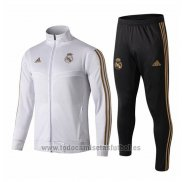 Chandal del Real Madrid Nino 2019-2020 Blanco y Oro