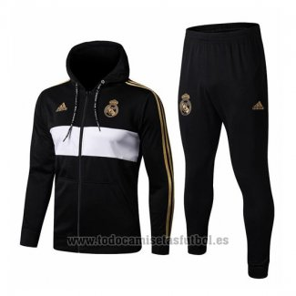 Chandal con Capucha del Real Madrid 2019-2020 Negro