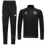 Chandal del Manchester United 2019-2020 Negro y Blanco