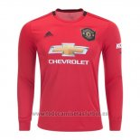 Camiseta Manchester United Authentic 1ª Manga Larga 2019-2020