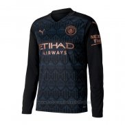 Camiseta Manchester City 2ª Manga Larga 2020-2021