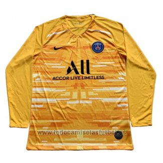 Camiseta Paris Saint-Germain Portero Manga Larga 2019-2020 (2XL-4XL) Amarillo