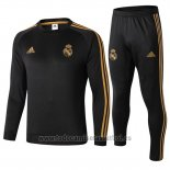 Chandal del Real Madrid Nino 2019-2020 Negro y Oro