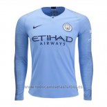 Camiseta Manchester City 1ª Manga Larga 2018-2019