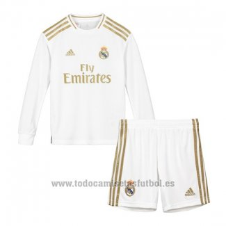 Camiseta Real Madrid 1ª Manga Larga Nino 2019-2020