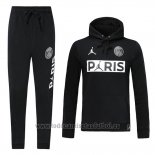 Chandal con Capucha del Paris Saint-Germain Jordan 202019-2020 Negro