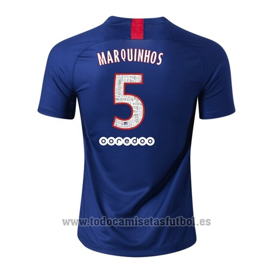 Camiseta Paris Saint-Germain Jugador Marquinhos 1ª 2019-2020