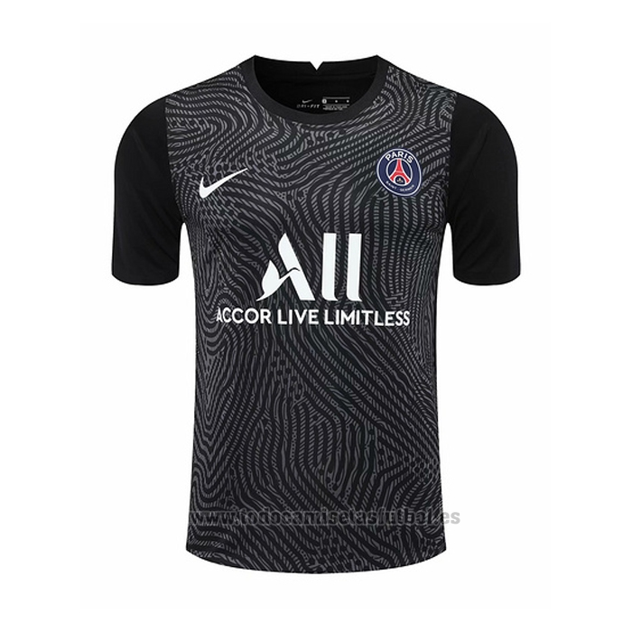 Camiseta Paris Saint-Germain Portero 2020-2021 Negro